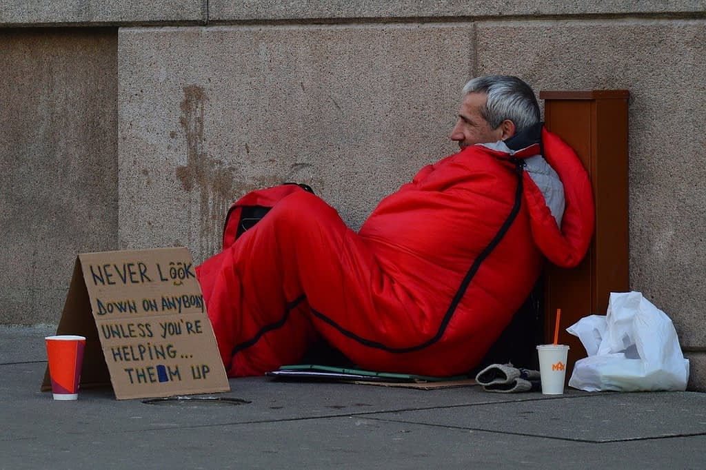 homeless man, homeless, advice