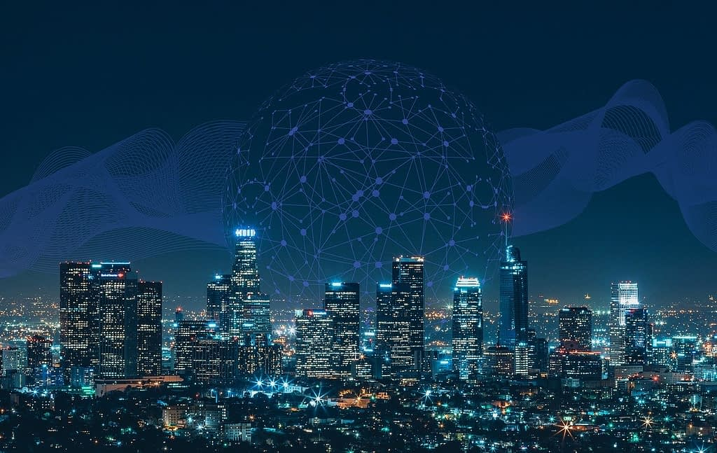 smart, city, communication